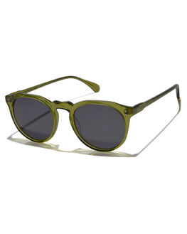 GREEN CRYSTAL UNISEX ADULTS RAEN SUNGLASSES - REM49-088-ZPBLKGRN