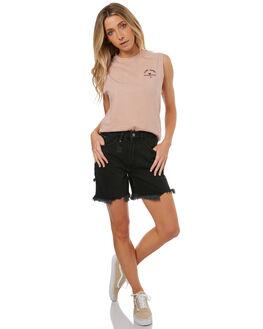 DUSTY PINK WOMENS CLOTHING THRILLS SINGLETS - WTR7-107PDSPNK