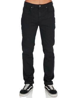 BLACK MENS CLOTHING BILLABONG JEANS - BB-9595351-BLK