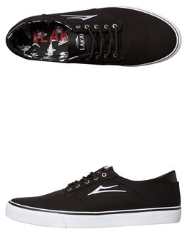 BLACK MENS FOOTWEAR LAKAI SKATE SHOES - MS217-0247-A00BLK