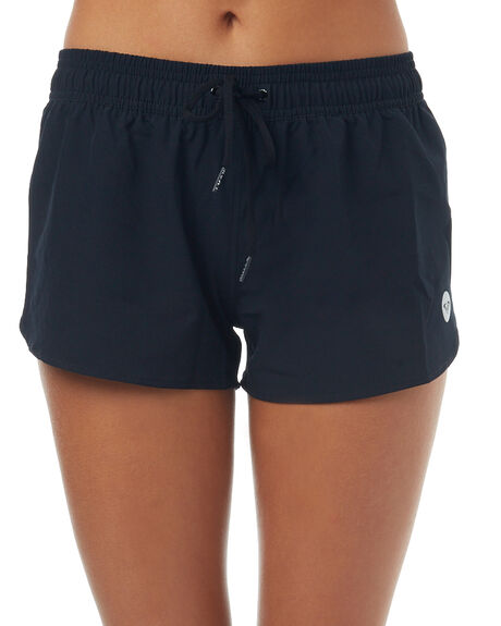BLACK WOMENS CLOTHING ROXY SHORTS - ERJBS03052BLK