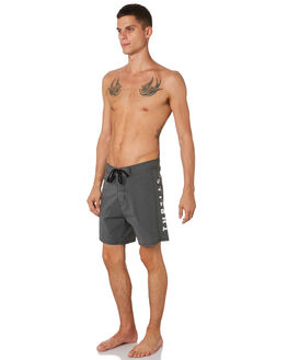MERCH BLACK MENS CLOTHING THRILLS BOARDSHORTS - TH9-312MBMBLK