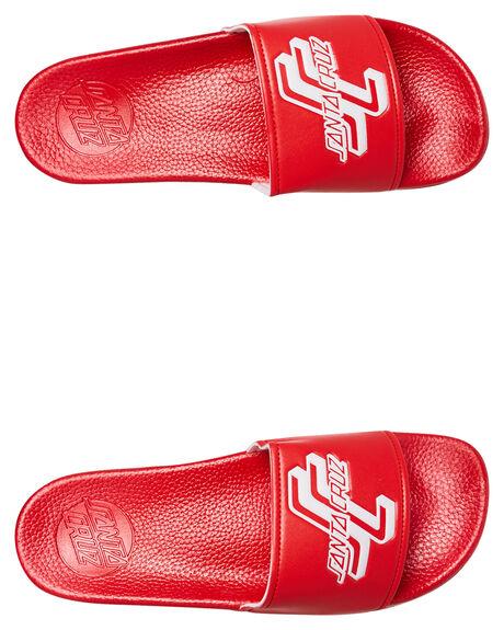 RED MENS FOOTWEAR SANTA CRUZ SLIDES - SC-MYC8086RED
