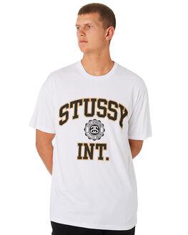 WHITE MENS CLOTHING STUSSY TEES - ST091004WHT