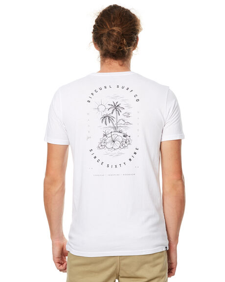 WHITE MENS CLOTHING RIP CURL TEES - CTEGG21000