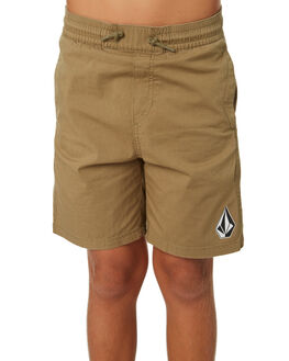 LIGHT ARMY KIDS BOYS VOLCOM SHORTS - C1031802LAR