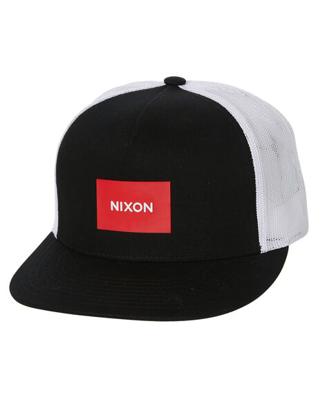 BLACK RED WHITE MENS ACCESSORIES NIXON HEADWEAR - C2167-1055