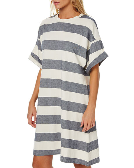 NATURAL NAVY STRIPE WOMENS CLOTHING THE FIFTH LABEL DRESSES - TP170140DNNVY1