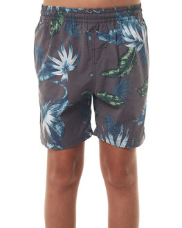 BLACK KIDS BOYS RIP CURL BOARDSHORTS - KBOPL10090
