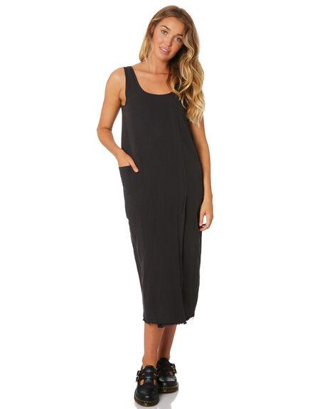 FADED BLACK WOMENS CLOTHING THRILLS DRESSES - WTA9-912FBFADB