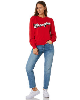 VINTAGE RED WOMENS CLOTHING WRANGLER KNITS + CARDIGANS - W-951025-358