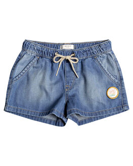 MEDIUM BLUE KIDS GIRLS ROXY SHORTS + SKIRTS - ERLDS03034-BGY0