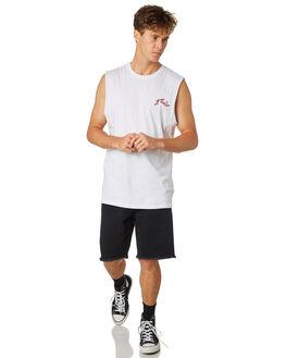 WHITE MENS CLOTHING RUSTY SINGLETS - MSM0251WHT