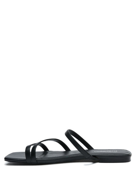 BLACK SMOOTH OUTLET WOMENS THERAPY FASHION SANDALS - SOLE-A2229BLK