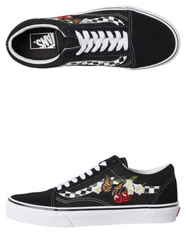 BLACK WOMENS FOOTWEAR VANS SNEAKERS - SSVNA38G1I5ZBLKW