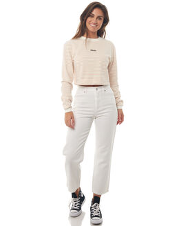 WHITE W PEACH WOMENS CLOTHING AFENDS JUMPERS - W181502WHTWPCH