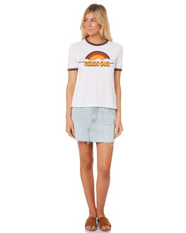 WHITE WOMENS CLOTHING THE HIDDEN WAY TEES - H8182002WHITE