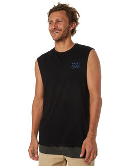 BLACK MENS CLOTHING SWELL SINGLETS - S5184280BLK