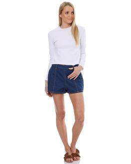 DENIM BLUE WOMENS CLOTHING SOMEDAYS LOVIN SHORTS - SL1703932DNB