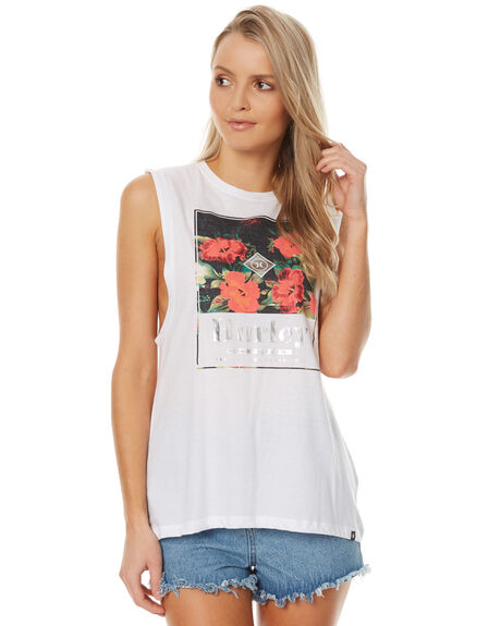 WHITE WOMENS CLOTHING HURLEY SINGLETS - AGSIBLOS10A