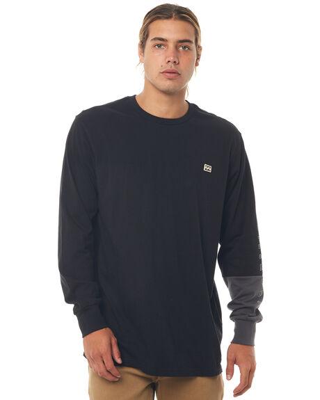 BLACK MENS CLOTHING BILLABONG TEES - 9586175BLK