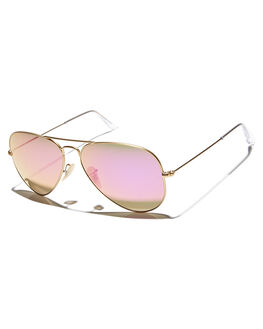 MATTE GOLD PINK MENS ACCESSORIES RAY-BAN SUNGLASSES - 0RB30251124T