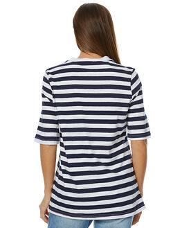 NAVY WHITE STRIPE WOMENS CLOTHING THE FIFTH LABEL TEES - TJ170404T-STNVY