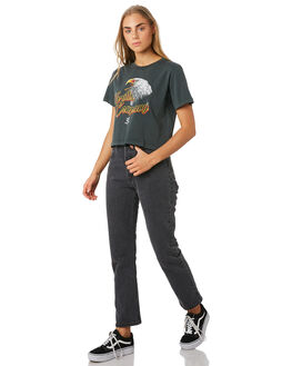 MERCH BLACK WOMENS CLOTHING THRILLS TEES - WSMU9-116MBMBLK