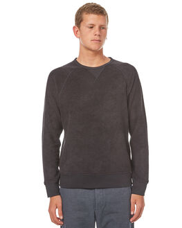 BRIGHT BLACK MENS CLOTHING OUTERKNOWN JUMPERS - 1240013BBK
