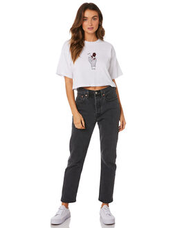 WHITE WOMENS CLOTHING SILENT THEORY TEES - 6033036-WHT