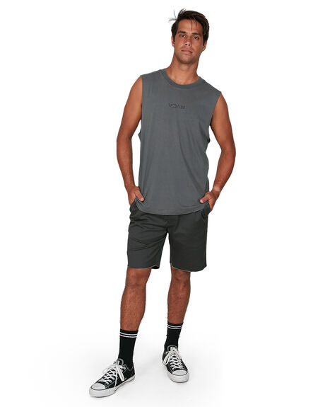 SMOKE MENS CLOTHING RVCA SINGLETS - RV-R106002-SMK