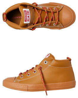 BURNT CARAMEL KIDS BOYS CONVERSE SNEAKERS - 662310CARA