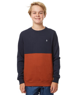 NAVY KIDS BOYS VOLCOM JUMPERS - C4631706NVY
