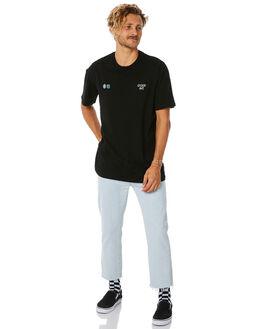 BLACK MENS CLOTHING STUSSY TEES - ST087009BLK