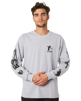 SPORTS GREY MENS CLOTHING POLAR SKATE CO. TEES - PSCGNAR-SPGRY