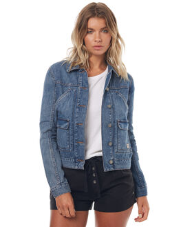 MEDIUM BLUE WOMENS CLOTHING ROXY JACKETS - ERJJK03203BMTW