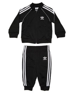 BLACK WHITE KIDS BABY ADIDAS CLOTHING - DV2820BLKWH