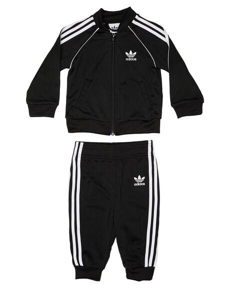 BLACK WHITE KIDS BABY ADIDAS CLOTHING - DV2820BLKWH