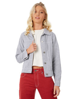 STRIPE WOMENS CLOTHING RVCA JACKETS - R281431STR