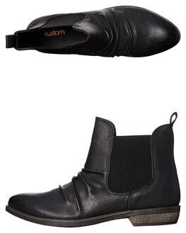 BLACK WOMENS FOOTWEAR KUSTOM BOOTS - 4668300ABLK