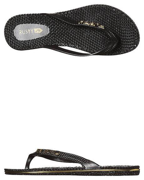 BLACK 1 WOMENS FOOTWEAR RUSTY THONGS - FOL0125BLK1