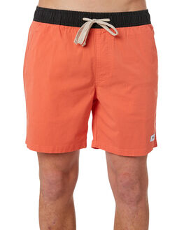 WASHED RED MENS CLOTHING BANKS BOARDSHORTS - BS0162_WRD