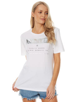 WHITE WOMENS CLOTHING HURLEY TEES - AGTSCOMT10A