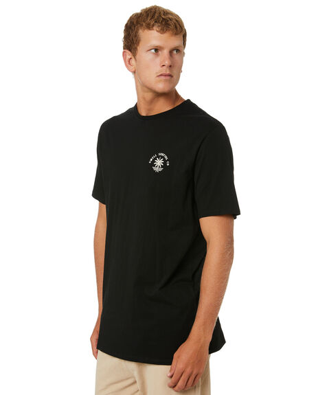 BLACK MENS CLOTHING SWELL TEES - S5214004BLK