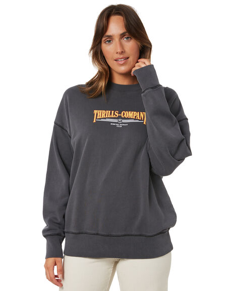 MERCH BLACK WOMENS CLOTHING THRILLS JUMPERS - WTA21-211BMMBLK