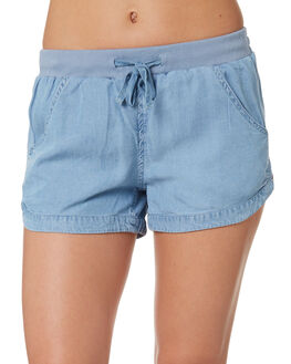 BLUE WOMENS CLOTHING RUSTY SHORTS - WKL0590PYB
