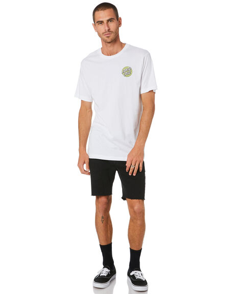 WHITE MENS CLOTHING SANTA CRUZ TEES - SC-MTD0910WHT