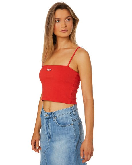 80S RED WOMENS CLOTHING LEE FASHION TOPS - L-651725-GR9