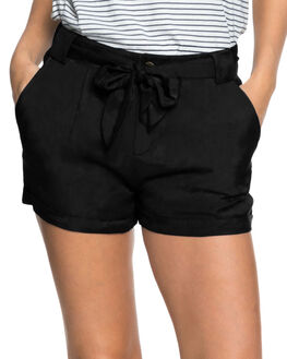 TRUE BLACK WOMENS CLOTHING ROXY SHORTS - ERJNS03177KVJ0