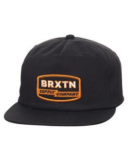 BLACK MENS ACCESSORIES BRIXTON HEADWEAR - 00819BLK